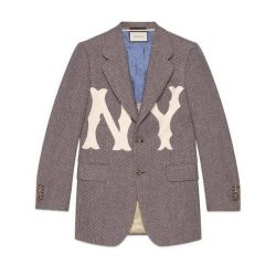 Men's jacket with NY Yankees™ patch – Gucci Men's Suits