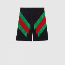 Nylon shorts with Web intarsia – Gucci Men's Shorts