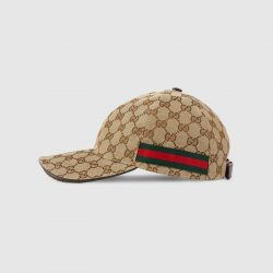 Original GG canvas baseball hat with Web – Gucci Men's Hats & Gloves
