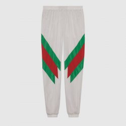 Oversize jogging pant with Web intarsia – Gucci Activewear