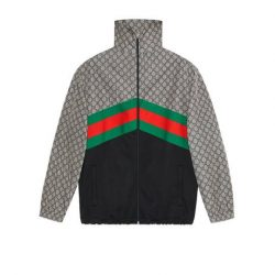 Oversize technical jersey jacket – Gucci Outerwear & Leather Jackets