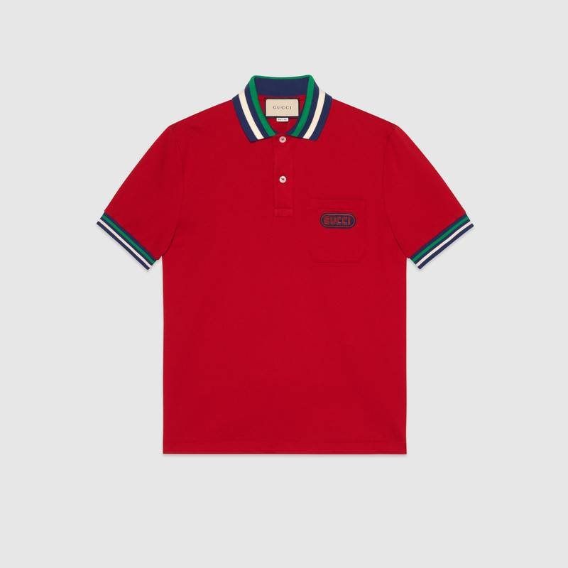 Polo with Gucci patch – Gucci Men's T-shirts & Polos