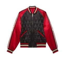 Reversible acetate bomber jacket – Gucci Men's Bombers