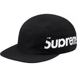 Supreme Side Panel Camp Cap- Black – Streetwear Official