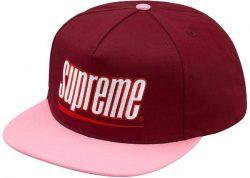 Supreme Underline 5-Panel- Burgundy – Streetwear Official