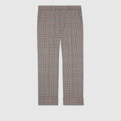 Tailored retro check wool pant – Gucci Men's Pants & Shorts