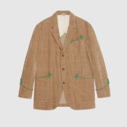 Velvet jacket with embroidery – Gucci Men's Coats & Jackets