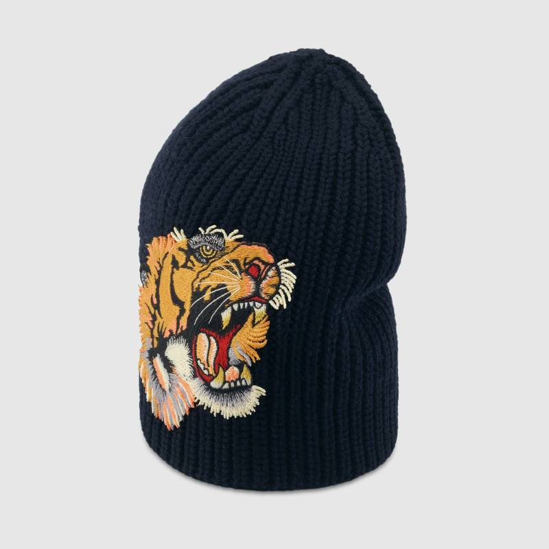 Wool hat with tiger – Gucci Men's Hats & Gloves