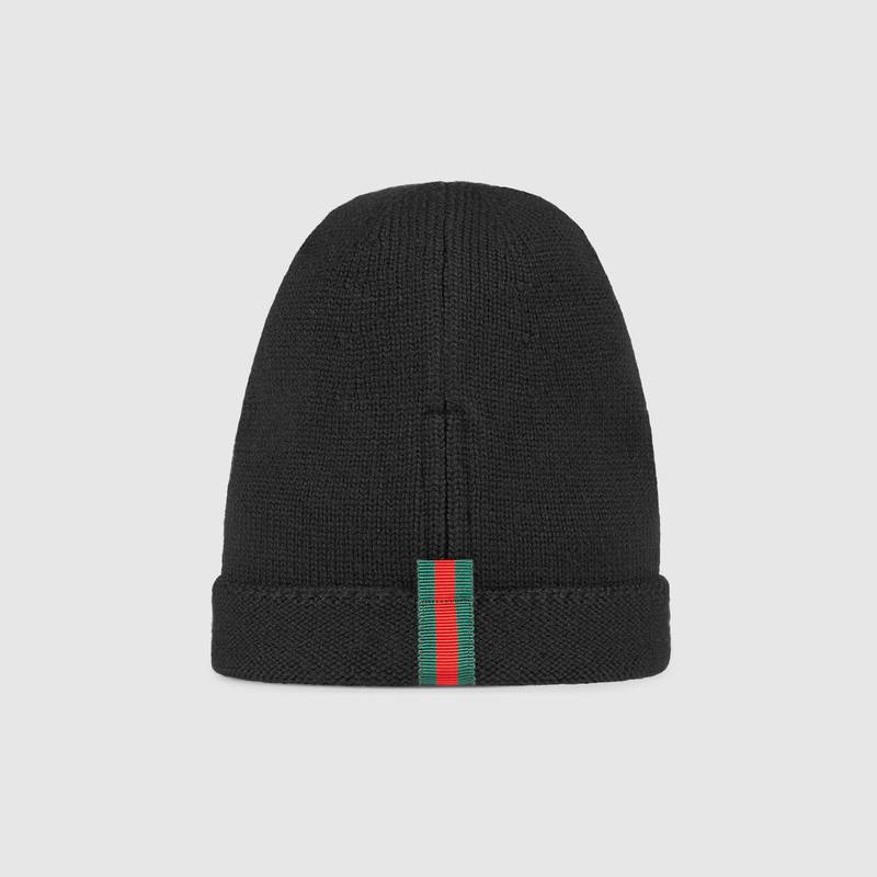 Wool hat with Web – Gucci Men's Hats & Gloves