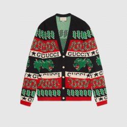 Wool symbols jacquard cardigan – Gucci Gifts for Men