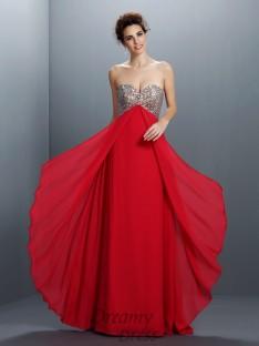 A-Line/Princess Sweetheart Chiffon Long Dress