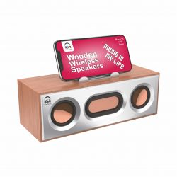 U&I Ui-BT-117 Drum Series Wooden Wireless Speaker For All Smartphones